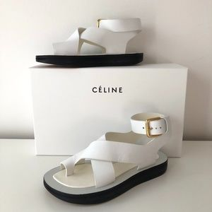 Rare CELINE by PHOEBE PHILO Chunky White Sandals